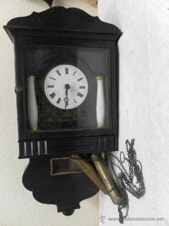Relojes de pared: Reloj ratera o selva negra. Siglo XIX. - Foto 2 - 36503138