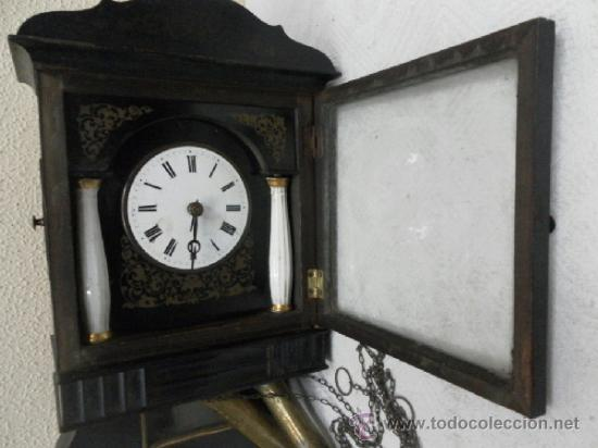 Relojes de pared: Reloj ratera o selva negra. Siglo XIX. - Foto 3 - 36503138