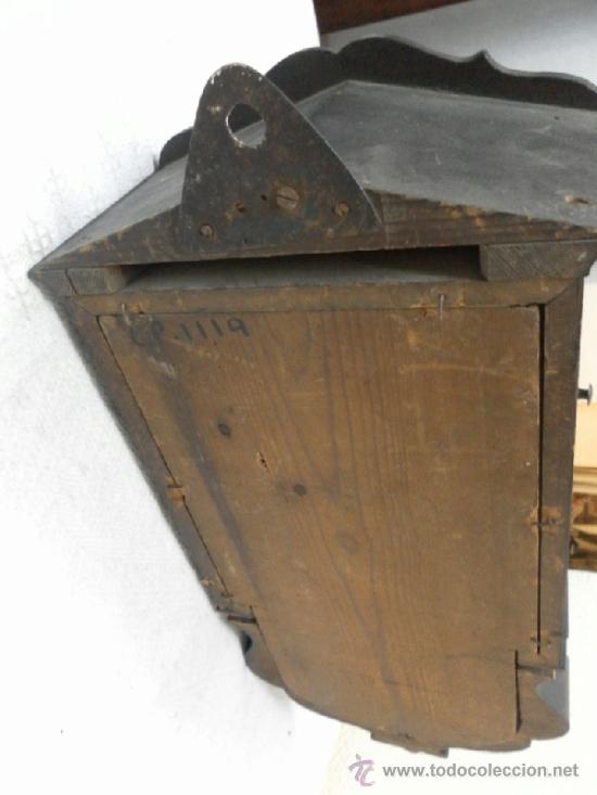 Relojes de pared: Reloj ratera o selva negra. Siglo XIX. - Foto 14 - 36503138