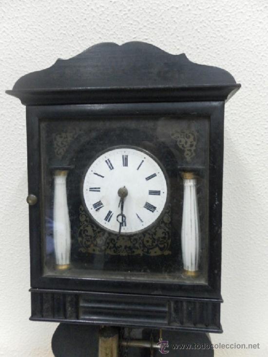 Relojes de pared: Reloj ratera o selva negra. Siglo XIX. - Foto 6 - 36503138