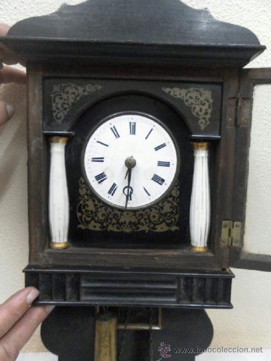 Relojes de pared: Reloj ratera o selva negra. Siglo XIX. - Foto 7 - 36503138