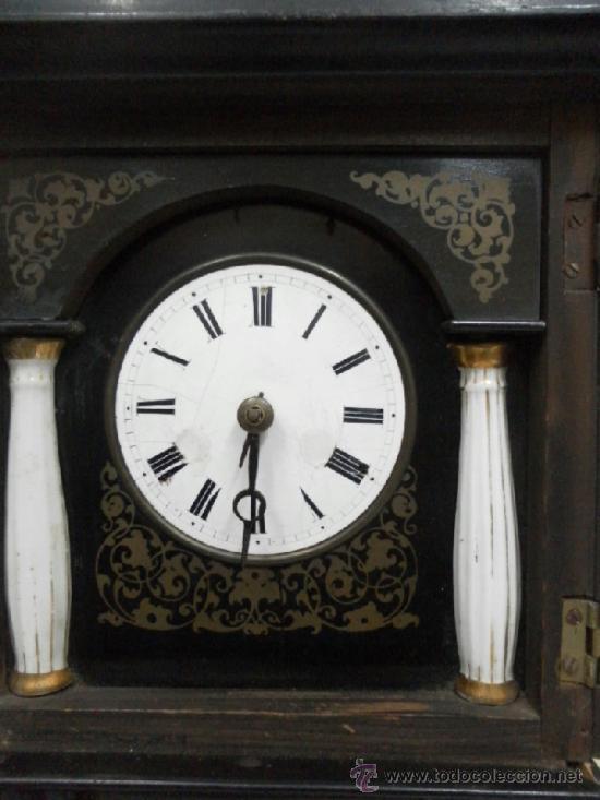 Relojes de pared: Reloj ratera o selva negra. Siglo XIX. - Foto 8 - 36503138