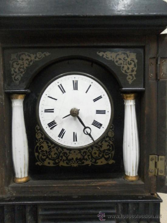 Relojes de pared: Reloj ratera o selva negra. Siglo XIX. - Foto 9 - 36503138