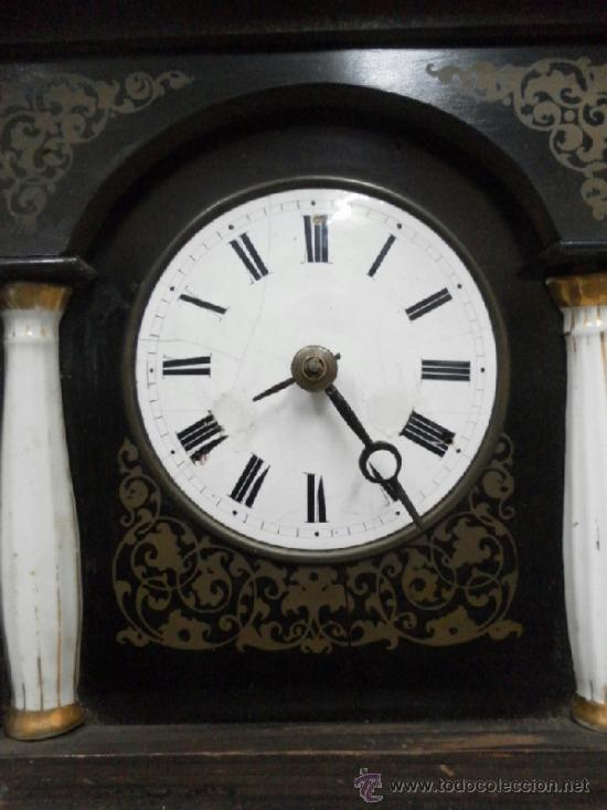 Relojes de pared: Reloj ratera o selva negra. Siglo XIX. - Foto 10 - 36503138