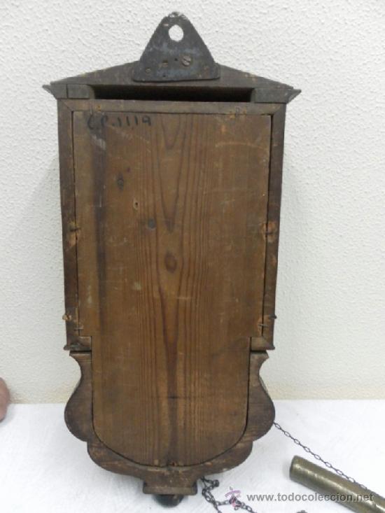 Relojes de pared: Reloj ratera o selva negra. Siglo XIX. - Foto 18 - 36503138