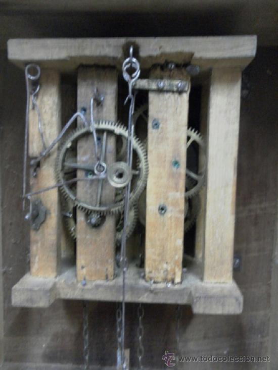 Relojes de pared: Reloj ratera o selva negra. Siglo XIX. - Foto 20 - 36503138