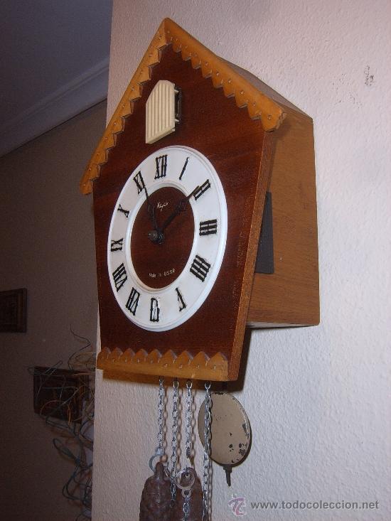 Relojes de pared: BONITO Y RARO RELOJ CUCU HECHO EN RUSIA,TOTALMENTE MECÁNICO Y FUNCIONAL.ESPECIAL PARA COLECCIONISTAS - Foto 7 - 31203507
