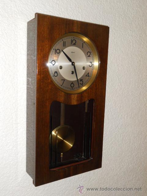 Reloj de pared a cuerda aleman marca hermle comprar relojes antiguos de pared carga manual - Relojes pared antiguos ...