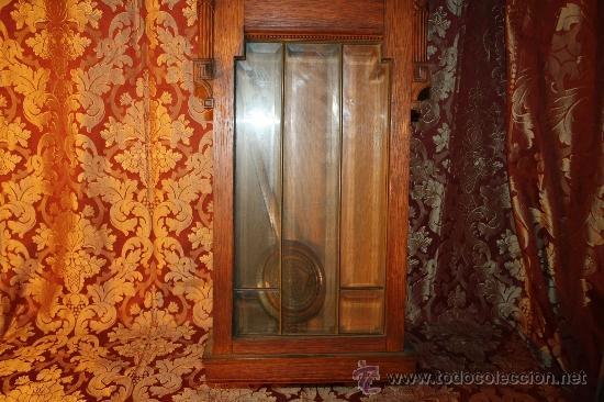 Relojes de pared: RELOJ DE PARED DE CARGA MANUAL AÑOS 20. MARCA ALIX. CON LLAVE Y PENDULO. - Foto 3 - 37346426