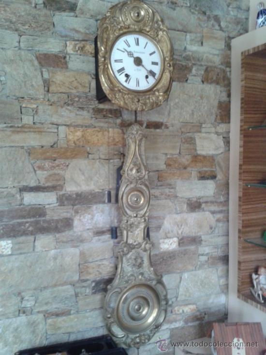ANTIGUO RELOJ MOREZ DE PENDULO REAL (Relojes - Pared Carga Manual)