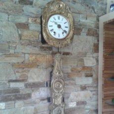 Relojes de pared: ANTIGUO RELOJ MOREZ DE PENDULO REAL. Lote 37574461