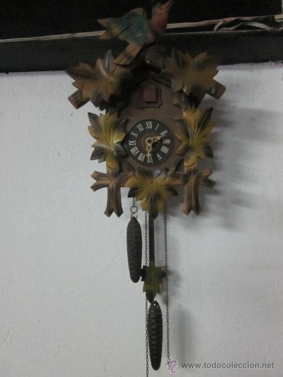 ANTIGUO RELOJ DE CUCO SUIZO (Relojes - Pared Carga Manual)