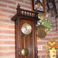 Relojes de pared: ANTIGUO RELOJ HENRI II NOGAL MAQUINARIA JUNGHANS DE ALEMANIA- AÑO 1890-10. Lote 38218951