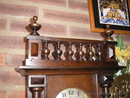 Relojes de pared: Antiguo reloj HENRI II nogal maquinaria JUNGHANS de alemania- año 1890-10 - Foto 2 - 38218951