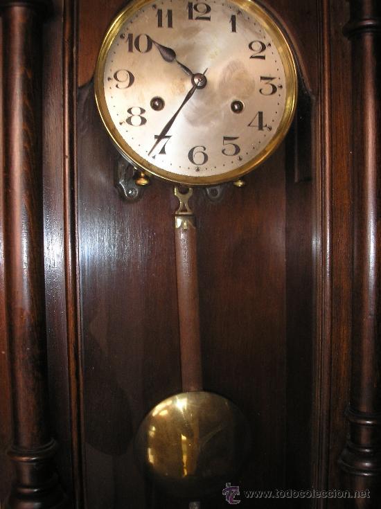 Relojes de pared: Antiguo reloj HENRI II nogal maquinaria JUNGHANS de alemania- año 1890-10 - Foto 4 - 38218951