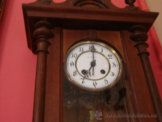 Relojes de pared: ANTIGUO RELOJ DE PARED DE CUERDA - Foto 2 - 38612901