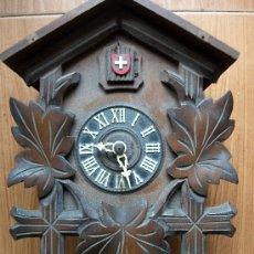 Relojes de pared: ANTIGUO RELOJ DE CUCO AÑOS 50 SUIZO DOS FUELLES. Lote 38795503