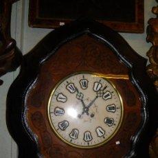 Relojes de pared: RELOJ MOREZ ESFERA DE ALABASTRO SIGLO XIX. Lote 38890146