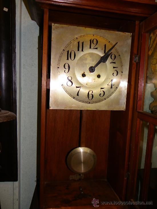 RELOJ DE PARED REGULADOR ALEMÁN, PRINCIPIOS SIGLO XX (Relojes - Pared Carga Manual)