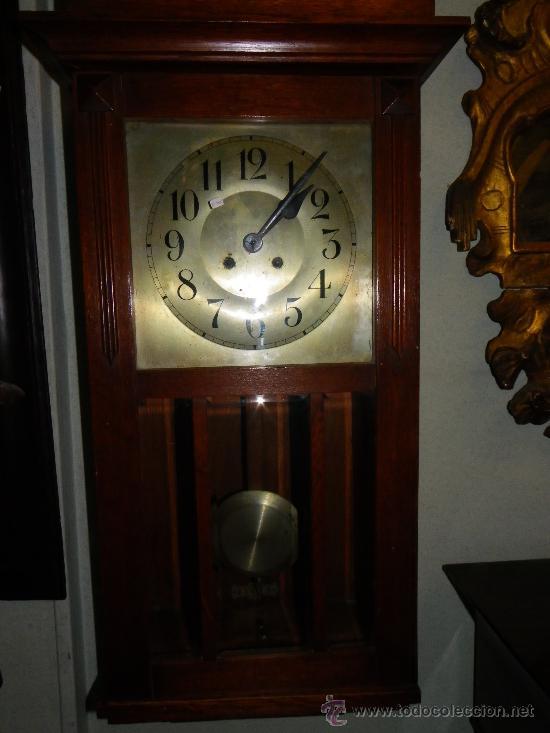 Relojes de pared: Reloj de pared regulador alemán, principios siglo XX - Foto 2 - 38892448