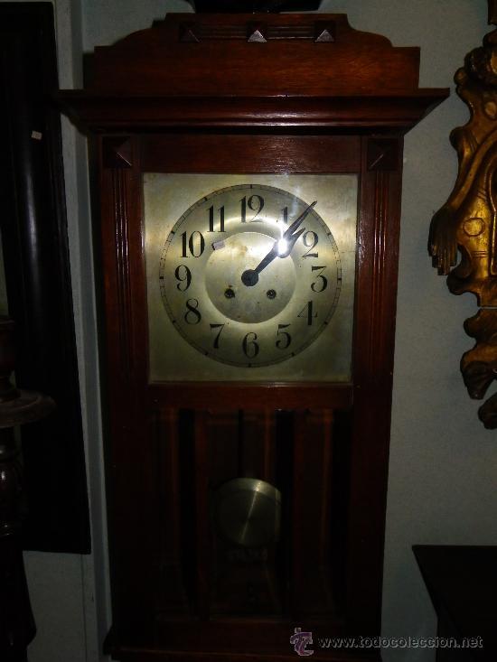 Relojes de pared: Reloj de pared regulador alemán, principios siglo XX - Foto 3 - 38892448