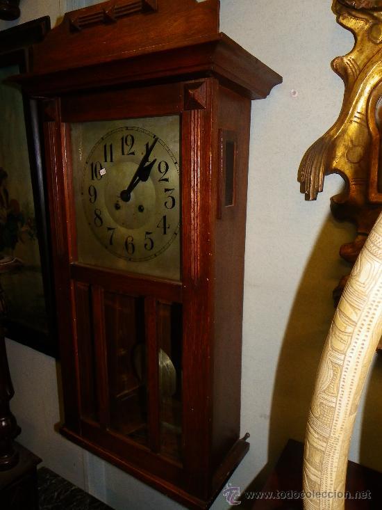 Relojes de pared: Reloj de pared regulador alemán, principios siglo XX - Foto 4 - 38892448