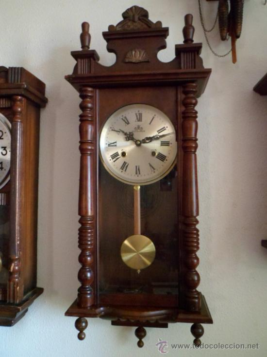 Reloj antiguo alem n de pared mec nico cuerda d comprar relojes antiguos de pared carga manual - Relojes pared antiguos ...
