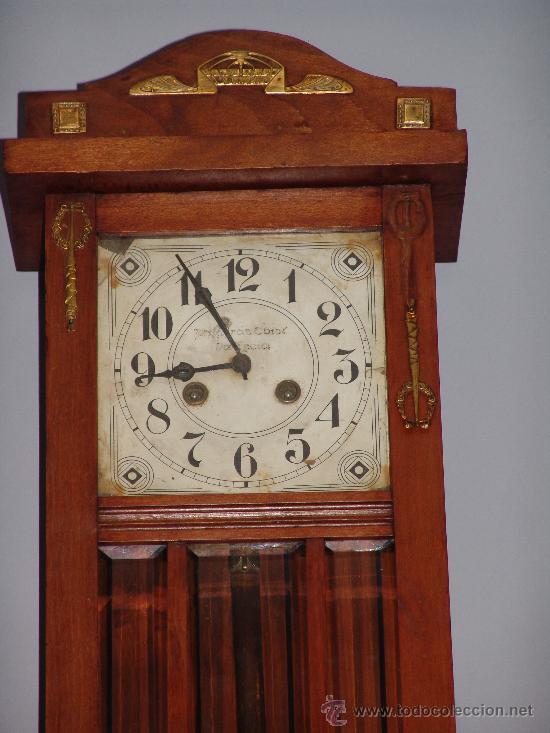 Relojes de pared: ANTIGUO RELOJ DE PARED ESTILO MODERNISTA - Foto 2 - 39114299