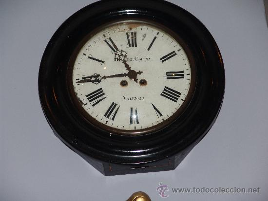 Relojes de pared: ANTIGUO RELOJ DE PARED DE OJO DE BUEY - Foto 2 - 39114397