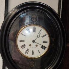 Relojes de pared: RELOJ DE PARED OVALADO DE EPOCA ISABELINA. Lote 39204032