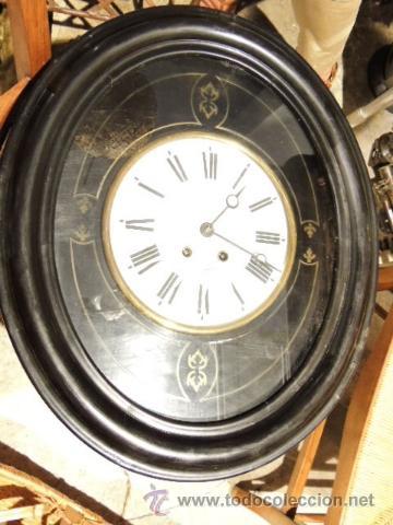 Relojes de pared: RELOJ DE PARED OVALADO DE EPOCA ISABELINA - Foto 2 - 39204032