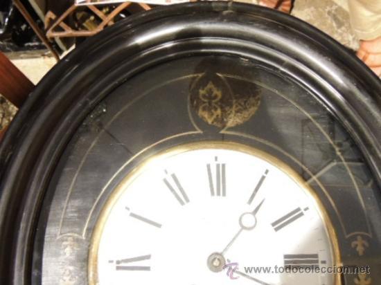 Relojes de pared: RELOJ DE PARED OVALADO DE EPOCA ISABELINA - Foto 3 - 39204032