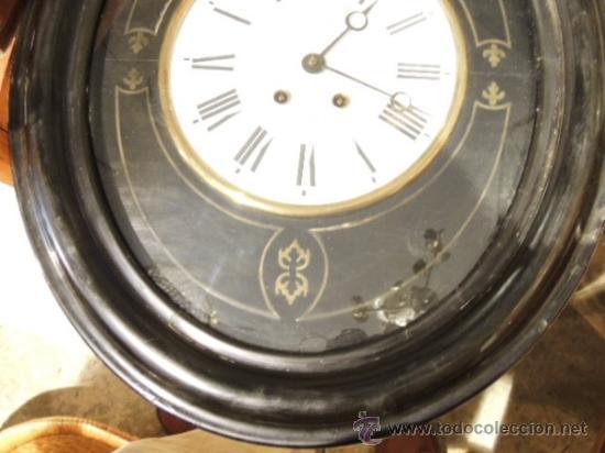 Relojes de pared: RELOJ DE PARED OVALADO DE EPOCA ISABELINA - Foto 4 - 39204032