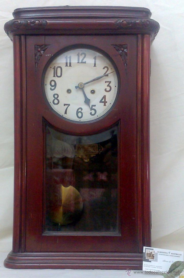 Relojes de pared: SIGLO XIX-XX .- RELOJ DE PARED ALFONSINO - Foto 18 - 30793659