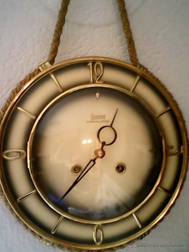 ANTIGUO RELOJ DE PARED, CARGA MANUAL.DE LOS AÑOS , 50.MARCA JARANT,SCHWEBE,ANKER HECHO,LATÓN DORADO. (Relojes - Pared Carga Manual)