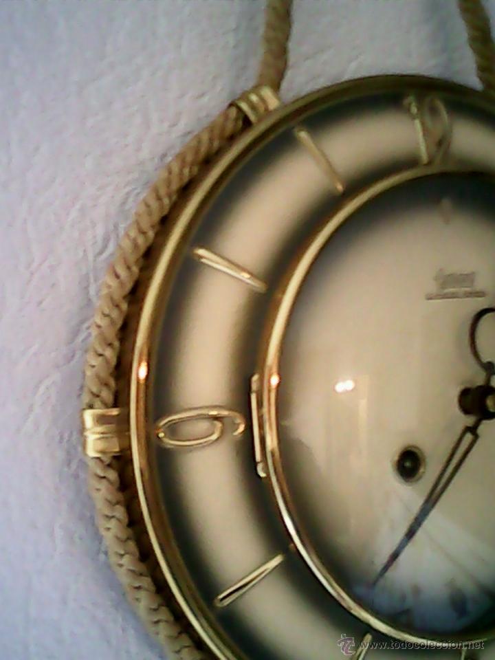 Relojes de pared: ANTIGUO RELOJ DE PARED, CARGA MANUAL.DE LOS AÑOS , 50.MARCA Jarant,SCHWEBE,ANKER HECHO,LATÓN DORADO. - Foto 3 - 39770880