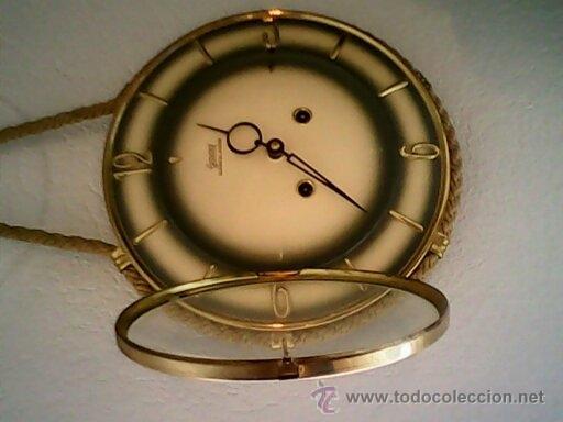 Relojes de pared: ANTIGUO RELOJ DE PARED, CARGA MANUAL.DE LOS AÑOS , 50.MARCA Jarant,SCHWEBE,ANKER HECHO,LATÓN DORADO. - Foto 10 - 39770880