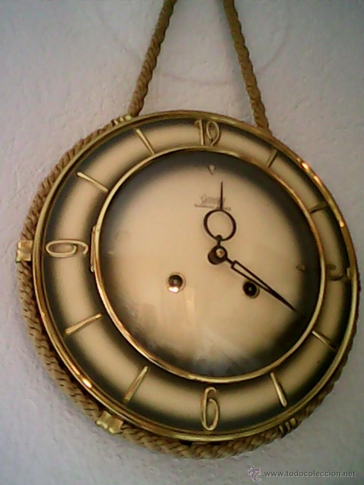 Relojes de pared: ANTIGUO RELOJ DE PARED, CARGA MANUAL.DE LOS AÑOS , 50.MARCA Jarant,SCHWEBE,ANKER HECHO,LATÓN DORADO. - Foto 13 - 39770880