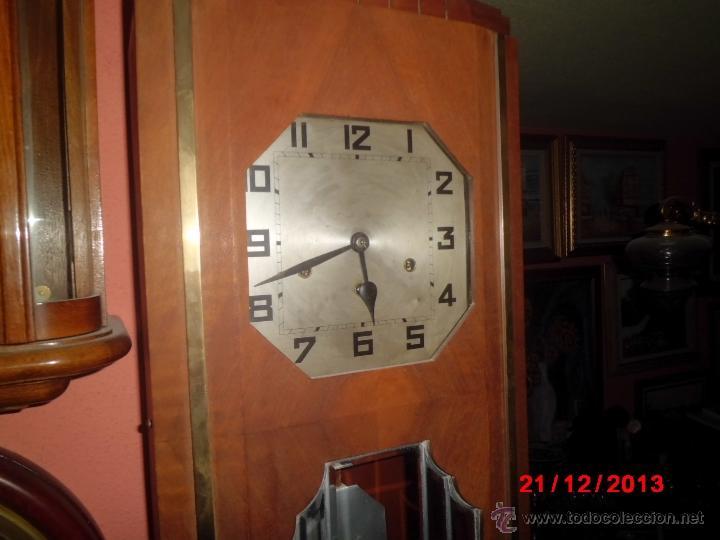 ANTIGUO RELOJ DE PARED CARRILLON, ART DECO. (Relojes - Pared Carga Manual)