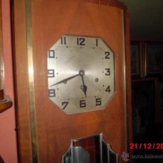 Relojes de pared: ANTIGUO RELOJ DE PARED CARRILLON, ART DECO. . Lote 40738530