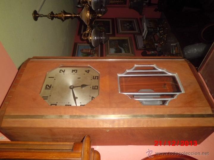 Relojes de pared: ANTIGUO RELOJ DE PARED CARRILLON, ART DECO. - Foto 2 - 40738530