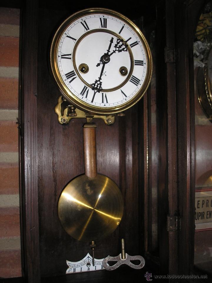 Relojes de pared: ! Antiguo Reloj Henri II- PFEILKREUZ-1900-10 - Foto 3 - 41126927