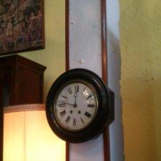 Relojes de pared: RELOJ DE PARED NEGRO. Lote 41334754