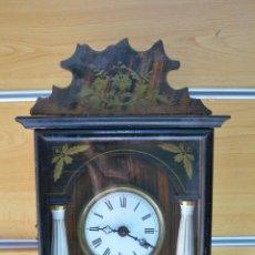 Relojes de pared: RELOJ DE PARED DOS PESAS FINALES DEL SIGLO XIX. Lote 41684640