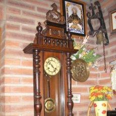 Relojes de pared: ANTIGUO Y ENORME-1,10 M- RELOJ ALFONSINO JUNGHANS-AÑO 1900-10. Lote 45128930