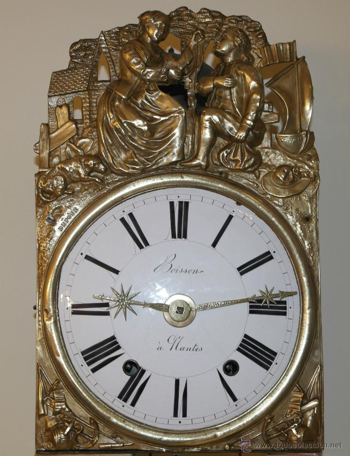 Antiguo reloj morez con p ndulo de lira de once comprar for Reloj de pared con pendulo