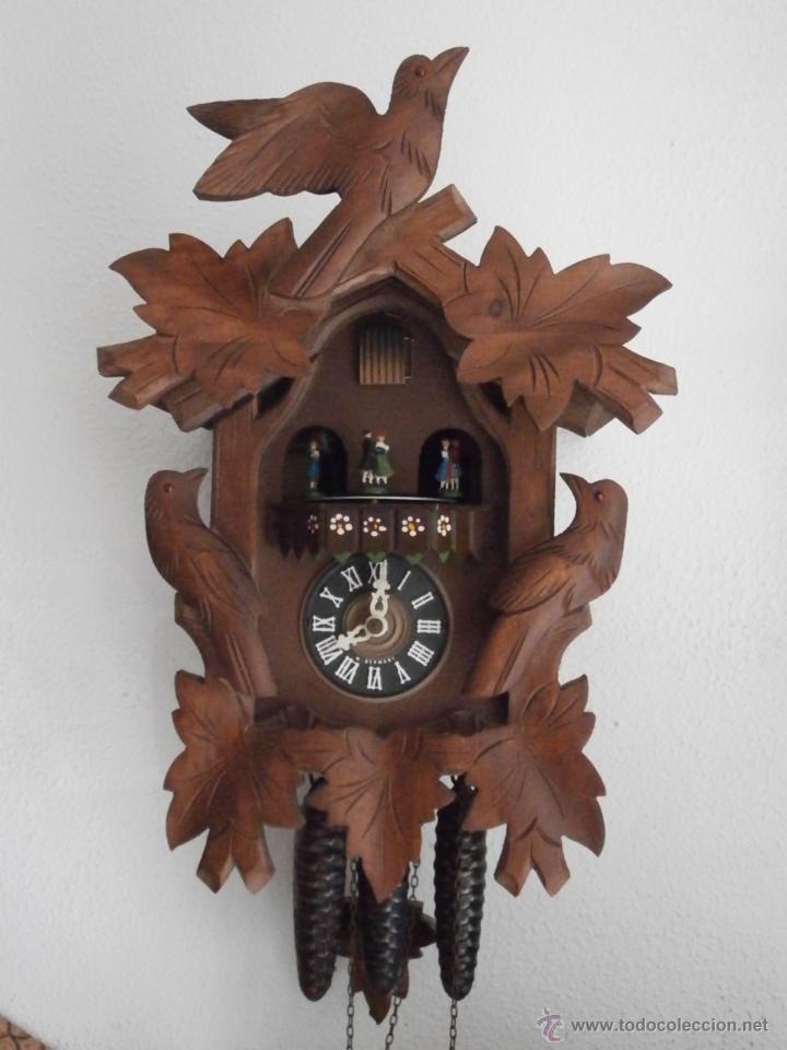 Reloj antiguo pared alem n cucu p ndulo 3 pesas comprar - Reloj decorativo de pared ...