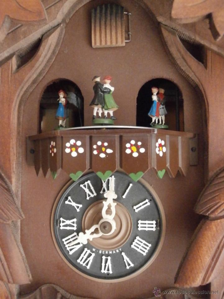 Reloj antiguo pared alem n cucu p ndulo 3 pesas comprar for Relojes de pared antiguos de pendulo