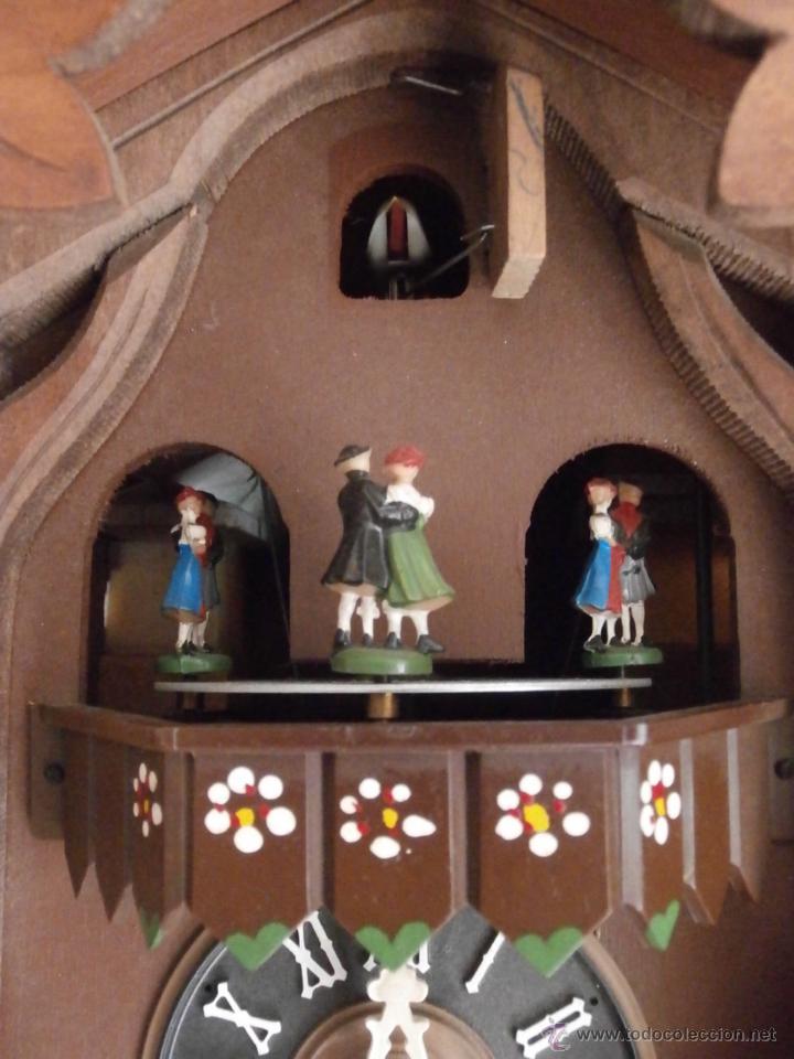 Relojes de pared: Reloj antiguo pared alemán cucu péndulo 3 pesas con campanadas canto cucu y melodía músical con Vals - Foto 5 - 246475070
