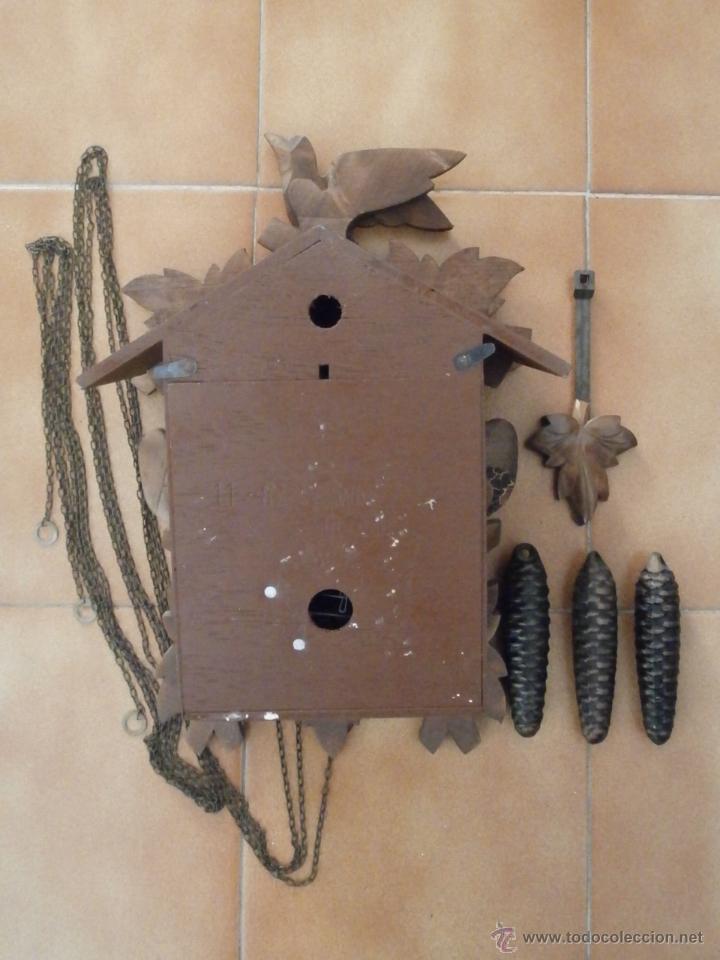 Relojes de pared: Reloj antiguo pared alemán cucu péndulo 3 pesas con campanadas canto cucu y melodía músical con Vals - Foto 6 - 246475070